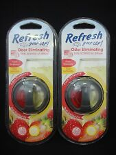 2 Refresh Your Car Air Freshener Dual-Scented Oil Strawberry & Lemonade Scents