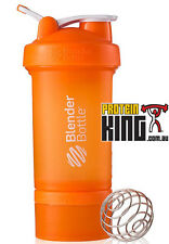 BLENDER BOTTLE PROSTAK 500ML ORANGE PROTEIN SHAKER CUP BPA FREE PRO STAK 16 OZ