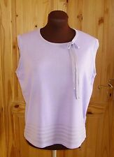 MARKS & SPENCER lilac mauve knitted vest tank tunic jumper sweater top, 18