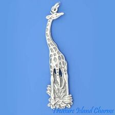 LARGE GIRAFFE .925 Sterling Silver Charm or Pendant 45mm 1-13/16""