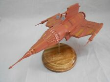 Blake's 7 Federation Pursuit Ships Spacecraft Mahogany Wood Model Small New