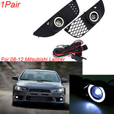 For 2008-2012 Mitsubishi Lancer Pair Front Fog Lights/Lamps Kit Wiring Switch