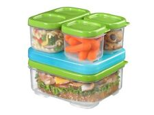 RUBBERMAID LUNCH BLOX FOR LUNCH BOX NEW FOOD STORAGE SANDWICH KIT SET 1806231
