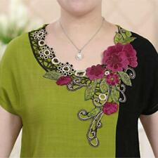 1pc Women Collar Flower Polyester Neck Trims Embroidered Decorated Lace Clothing