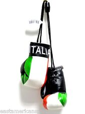 Italy Italia Mini Boxing Gloves Car Flag Decoration Mirror Hanging Ornament