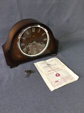 Vintage Smiths Mantle Clock Floating Balance Westminster Chime With Instructions