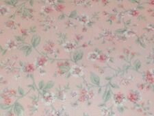 Fabric  Cotton Quilt VINTAGE  Pink White Victorian Rose Shabby  Flower  BTHY