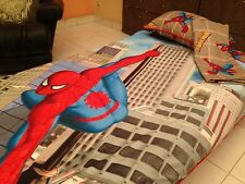SPIDER-MAN 4-PC TWIN/SINGLE BEDDING SET DUVET COVER, SHEETS, 2 PILLOW, COTTON