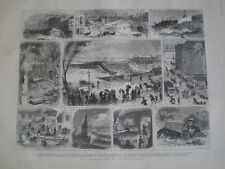 The Inundations at St Petersburg Russia 1879 old prints