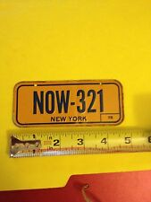 Vintage 1979 New York Post Cereal Miniature Bicycle State License Plate NOW-321