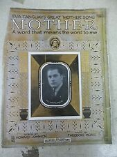 Eva Tanguay's Great Mother Song Sheet Music, 1915 *FREE SHIPPING*