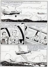 MELLIES : BIGGLES EN AFRIQUE SUPERBE PLANCHE ORIGINALE ARTIMA PAGE 60