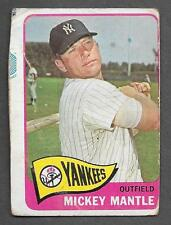 HAND CUT FROM SHEET 1965 TOPPS #350 MICKEY MANTLE BASEBALL CARD READ NOTES *ABC