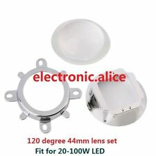 120 degreen 44mm Lens + Reflector Collimator + Fixed bracket For 20W- 100W LED