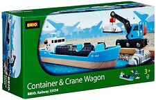 Brio wagon conteneur et grue