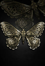 Restyle Haarspange Golden Moth Motte Gothic Lolita Mechanical Hairclip Steampunk