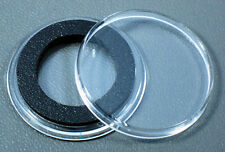 25 AirTite 21mm Black Ring Coin Holder Capsules for Nickels