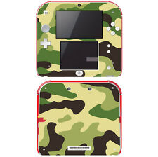 Vinyl Skin Decal Cover for Nintendo 2DS - Green Camouflage