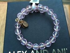 NWT ALEX and ANI VINTAGE 66 Russian GOLD Pink BLUSH MIRAGE Beaded Wrap BRACELET
