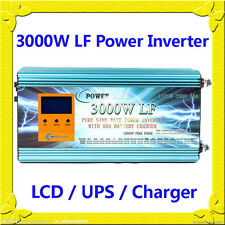 3000W LF Split Phase PSW 24V DC/110V,220V AC 60Hz Power Inverter LCD/UPS/Charger