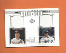 2001 UD PROS AND PROSPECTS THEN AND NOW PHIL NEVIN GAME-USED JERSEY #TN-PN (A)