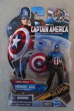 """Marvel Studios CAPTAIN AMERICA #5 Heroic Age 3.75"""" Figure Sealed Orig Package"""