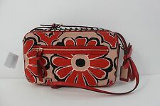 Coach Poppy Floral Scarf Print Flight Bag Crossbody Shoulder Bag Sky Neutral