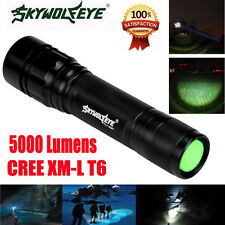 5000Lm Shadowhawk CREE XM-L T6 LED Zoom 18650 Tactical Flashlight Torch Lamp UK