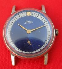 RAREST ZIM MEN'S MECHANICAL WRIST WATCH RARE DIAL SERVICED MADE IN USSR 15 jewel