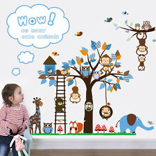 Wandtattoo Wald Kinderzimmer Spielzimmer Wandbild  Tiere Neu Zoo Affen Neu ! XL