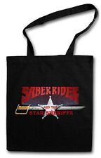 SABER RIDER AND THE STAR SHERIFFS HIPSTER BAG - Stofftasche Stoffbeutel - TV Fun