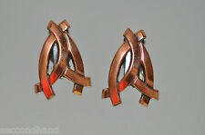 RENOIR PENDIENTES   ORIGINAL VINTAGE EARRINGS   COPPER