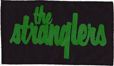 THE STRANGLERS 77 PUNK ROCKER LARGE BLACK PATCH GREEN INK SEW ON