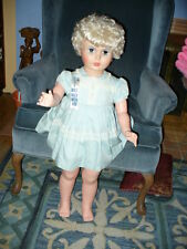 "35"" HUGE LIFE SIZE VINTAGE PATTI PLAYPAL WALKING DOLL ROOTED HAIR - AE"