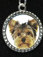 "Dog Yorkshire Terrier Charm Tibetan Silver with 18"" Necklace BIN"