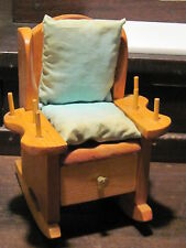 Vintage sewing notion rocking chair spool holder