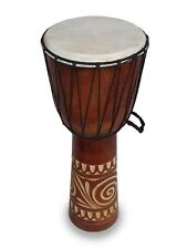 DJEMBE/BONGO /DRUMS,GOAT SKIN.HARD WOOD.FAIRTRADE (60cm tall, carved)