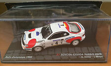 "DIE CAST ""TOYOTA CELICA TURBO 4WD RALLY CATALUNYA 1992""PASSIONE RALLY SCALA 1/43"