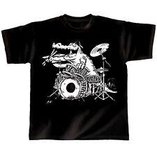 """Rock You Drummer Schlagzeug T-Shirt """"Kroko"""" Größe S"""