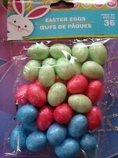 SALE. MINI FOAM Glitter EASTER EGGS ,crafts, wreaths , decorations, baskets