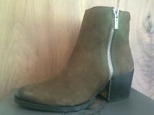 Vince Camuto Imala NEW Brown Double Zip Leather Ankle Bootie Boots sz 9.5
