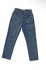 JECKERSON LADIES STRAIGHT LEG Blue Denim JEANS Faded Sz42 W27 Uk10 MADE IN ITALY