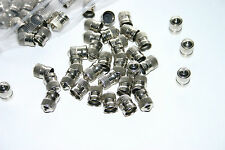50 GENUINE SCHRADER NICKEL PLATED VALVE CAPS