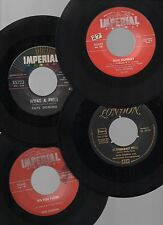 "FATS DOMINO LOT OF 7 ROCK & ROLL 7"" 45rpm 1950's STOCK & IMPORT SINGLES VG/NM-"