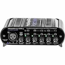 ART HeadAMP 4 Pro - Five Channel Headphone Amplifier With Talkback NEW!