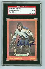 Dave Dryden Autographed 1973-74 O-Pee-Chee Card #63 Sabres SGC Authentic Encased