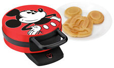 Disney - Classic Mickey Mouse Waffle Maker - Red/Black