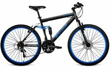 "Men's Mountain Bike Blue Aluminum Frame Bicycle Shimano 26"" Full Suspension"