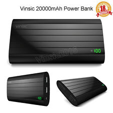Vinsic 20000mAh Power Bank External Battery Charger for iPhone Samsung Tablet PC