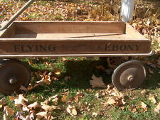 "1925 KENTUCKY DERBY WINNER ""FLYING EBONY""WOODEN KIDS PULL WAGON W/PICS. ON SIDE"